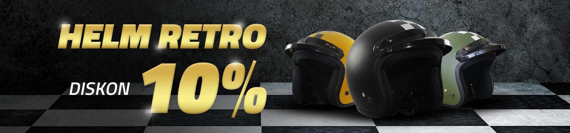 Diskon 10% Helm Retro