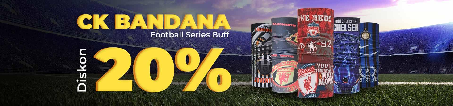 Diskon 20% CK Bandana Buff Football Series