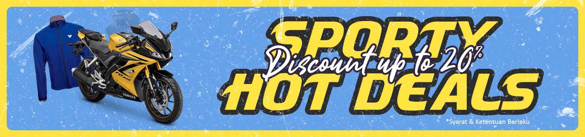 Sport Hot Deals! Diskon Motor, Helm, Masker, dan Jaket Sport